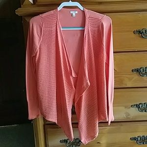 Sonoma Salmon colored/ Open-front Cardigan